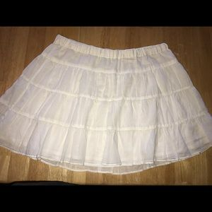 Abercrombie & Fitch White Lind Mini Size Small